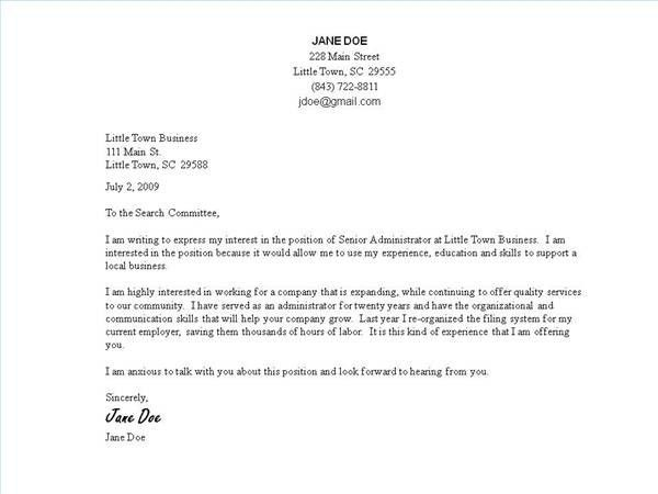 examples of good cover letters for resumes resume format. good ...