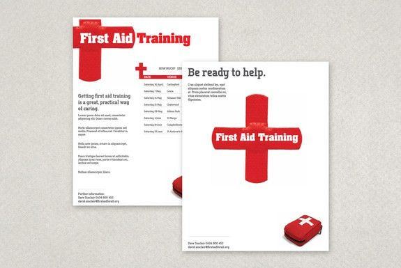 First Aid Training Flyer Template-- Running a first aid course at ...