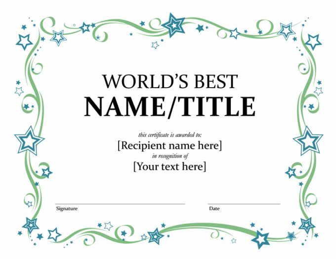 Editable Award Certificate Of Excellence Or Winner Template Sample ...
