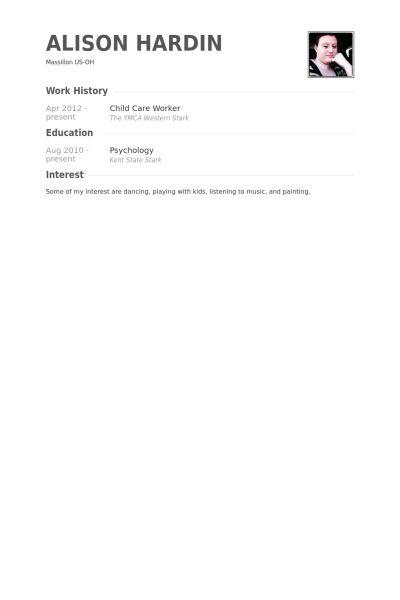 Child Care Worker Resume samples - VisualCV resume samples database