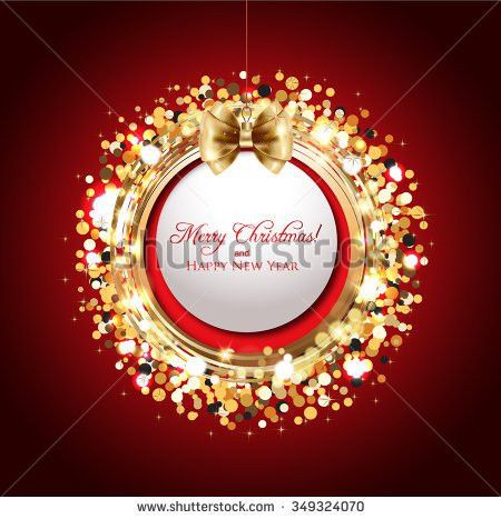 December Christmas Greeting Card Sample Stock Vectors & Vector ...