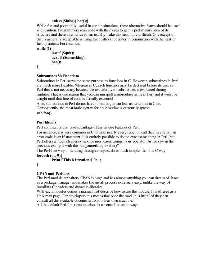 Perl programming language