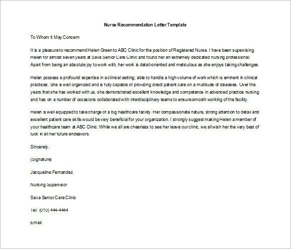Job Recommendation Letter – 8+ Free Word, Excel, PDF Format ...