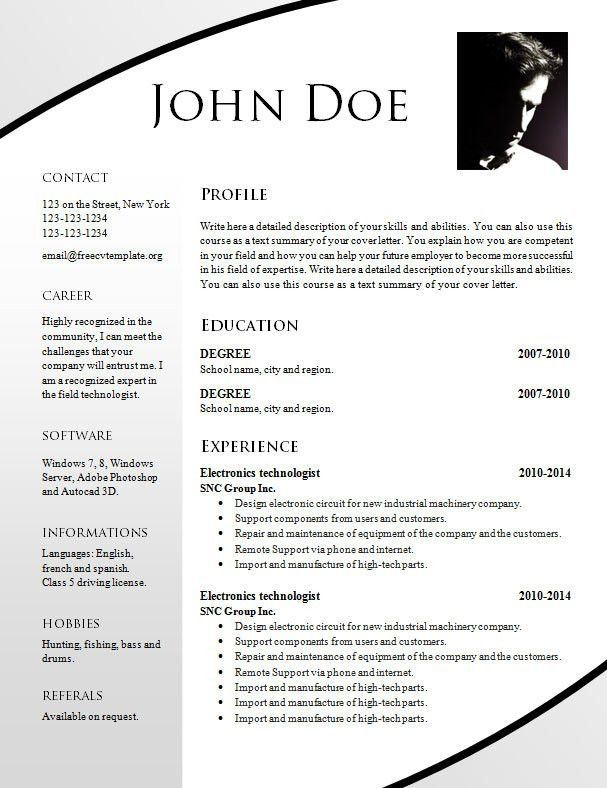 Totally Free Resume Templates. Completely Free Resume Builder ...