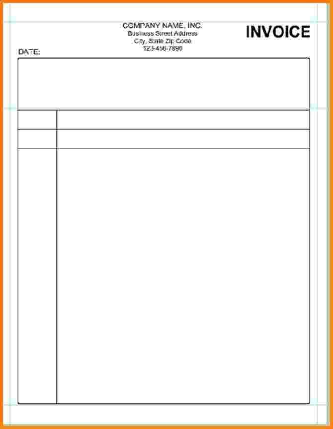 9+ simple blank invoice template | Short paid invoice