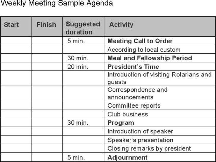 Meeting Program Sample | Samples.csat.co