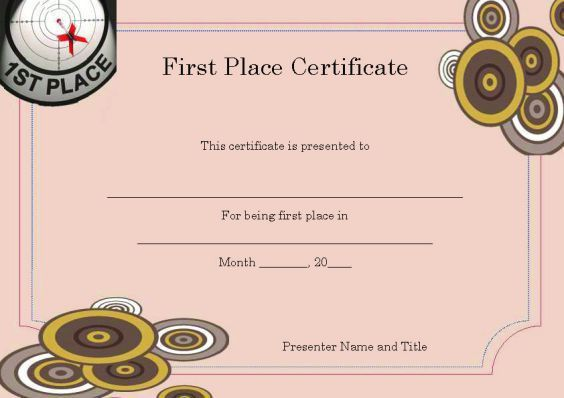 1st place certificate template winner certificate templates free winner certificate template 40 word templates for yadclub Choice Image
