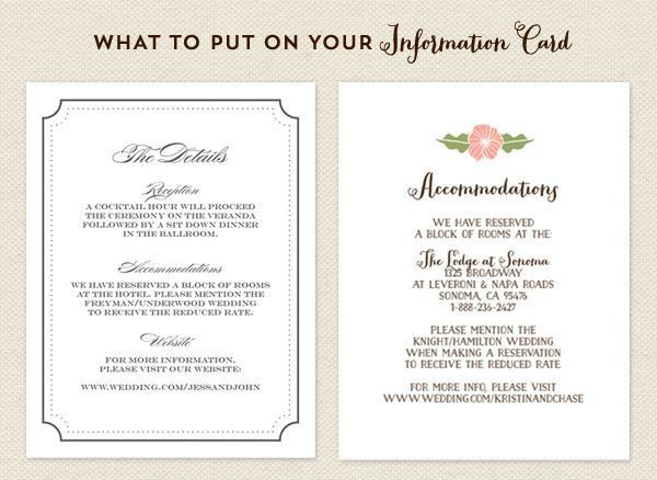Top 25+ best Accommodations card ideas on Pinterest | Wedding ...