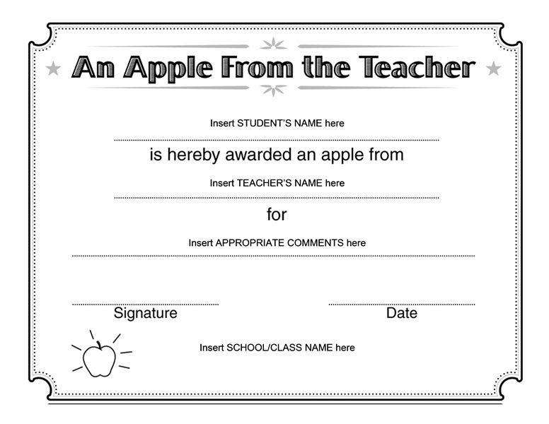 Apple from teacher award certificate - Templates - Office.com ...