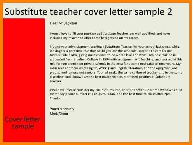 7+ substitute teacher letter of interest | job resumed