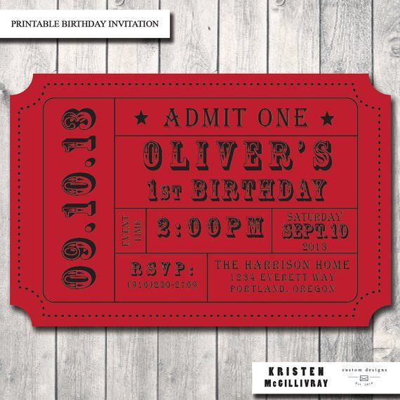 Movie Ticket Invitations Printable Free | alesi.info