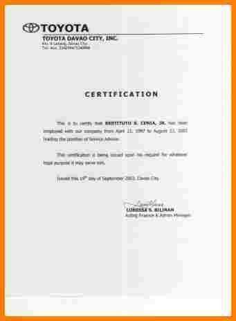 8+ sample employee certificate   sample of invoice