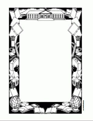 Free Printable Border Designs For Paper Black And White | Free ...
