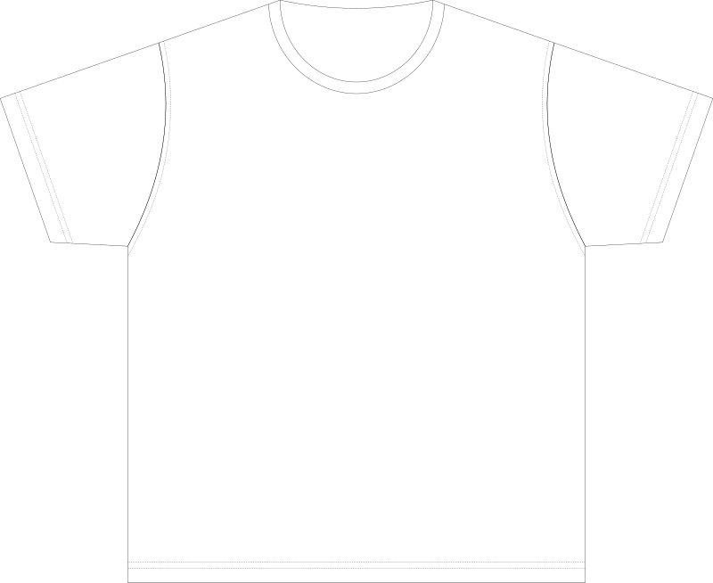 Clipart - XL-size Blank T-shirt Template