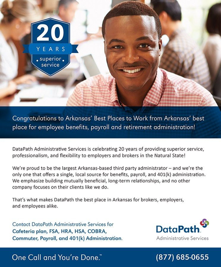 DataPath, Inc. Arkansas Best Places to Work Print Ads |
