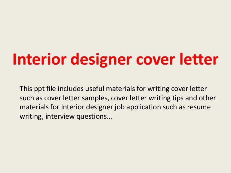 interior designer cover letter example. interior design cover ...