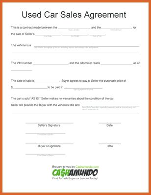vehicle purchase agreement | resume name