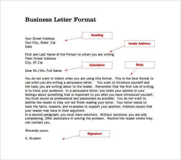 14+ Proper Letter Formats - Free Sample, Example, Format