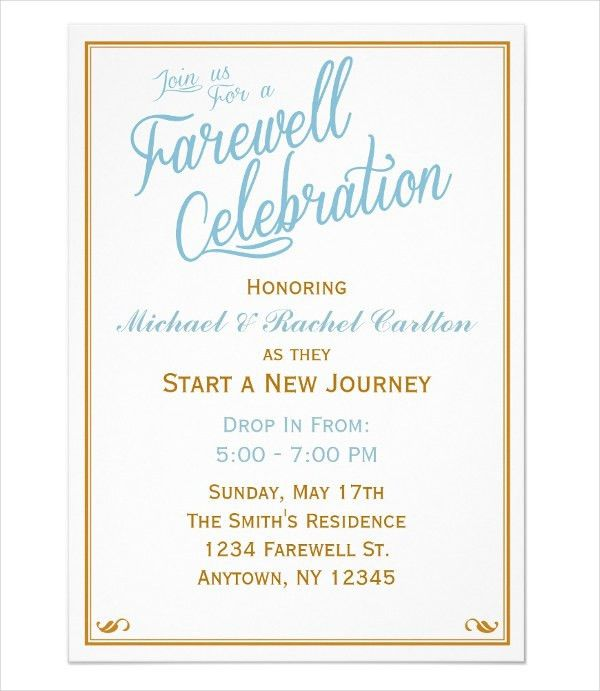 6+ Farewell Dinner Invitations - JPG, Vector EPS, Ai Illustrator ...