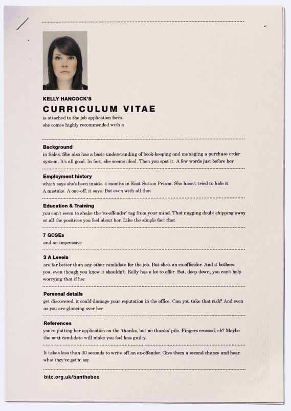 Clever Resume Print Ads Highlight The Discrimination Faced By Ex ...
