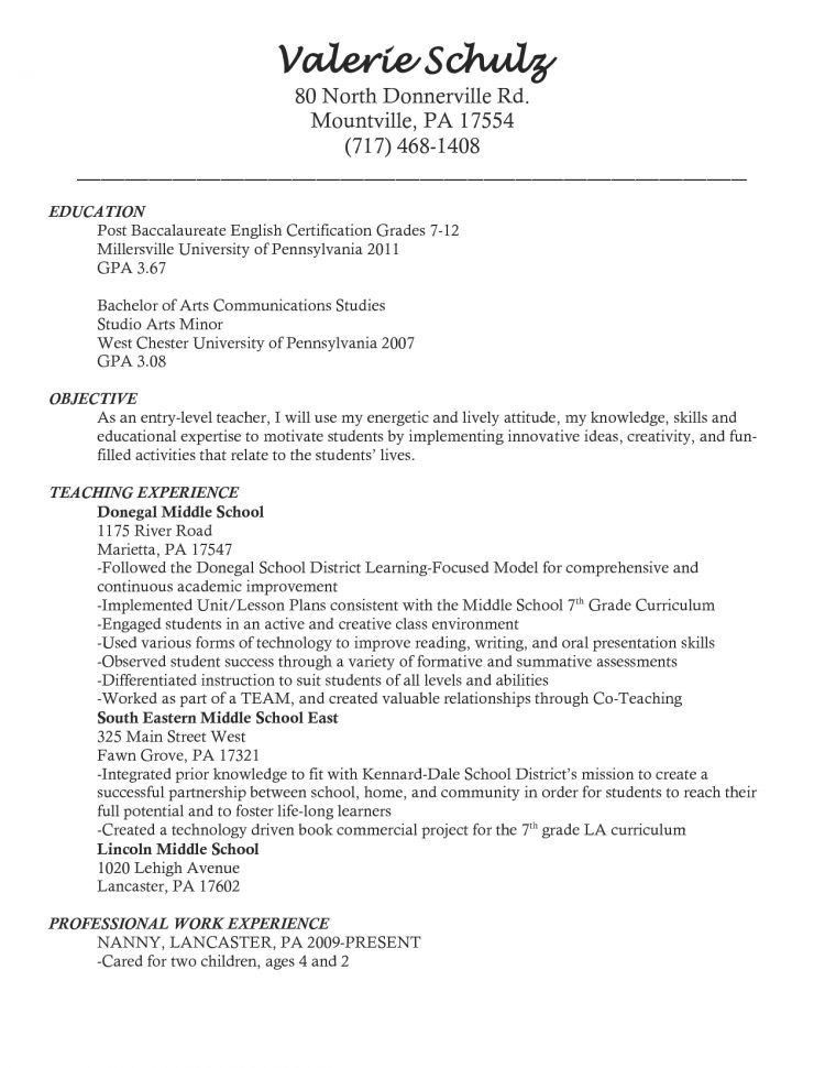teaching objectives resume teaching objectives for resume