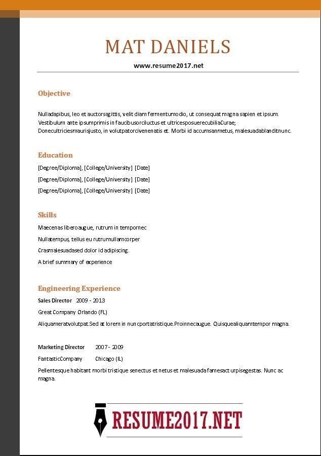 Basic Resume Format Examples. Simple Resume Format Sample Sample ...
