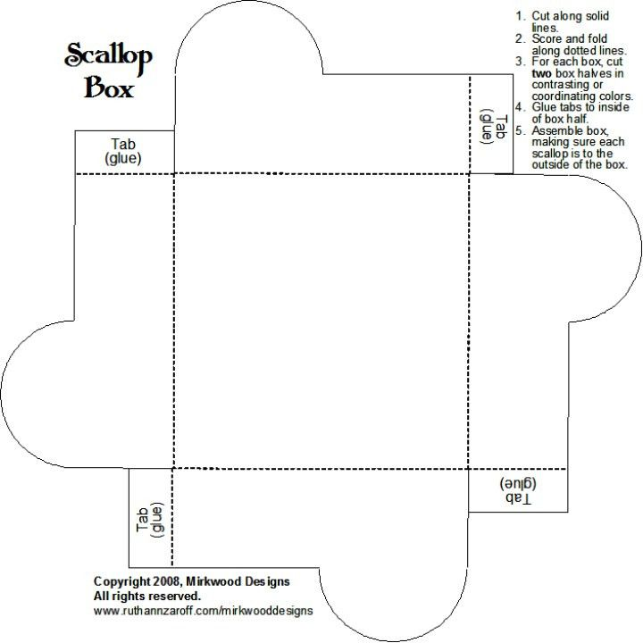 Scallop Box   Box, Box templates and Box template printable