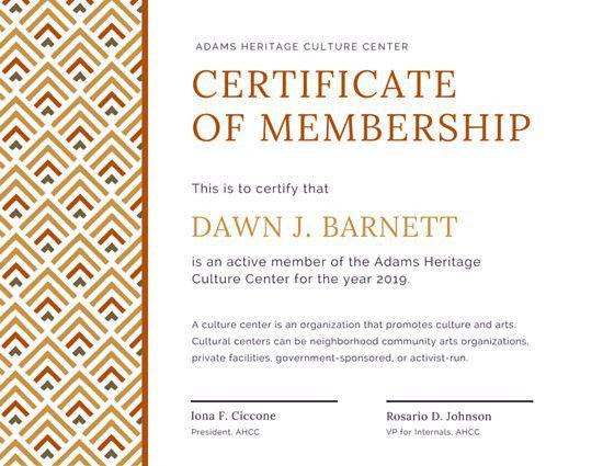 Geometric Pattern Membership Certificate - Templates by Canva