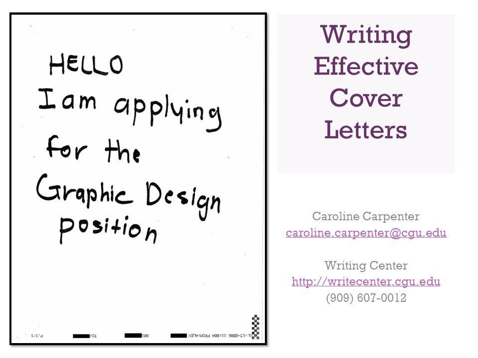 Writing Effective Cover Letters - ppt video online download