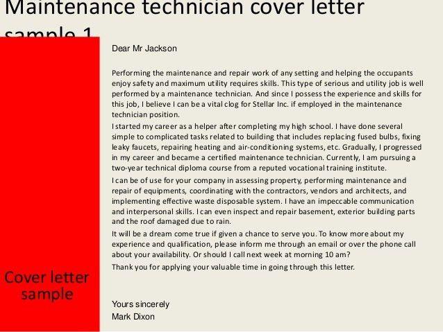 Tech Cover Letter