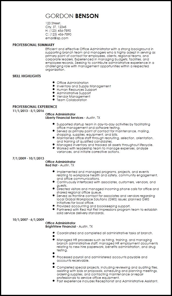 Free Creative Office Administrative Resume Template | ResumeNow