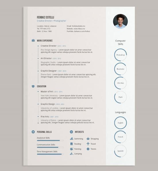 Resume Examples. 10 best ever detailed accurate effective cv free ...