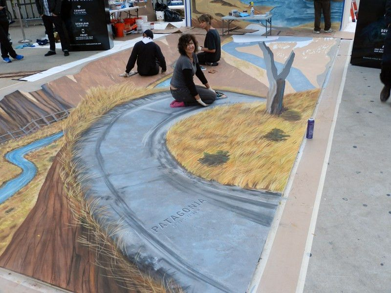 Cadillac ATS with the Best in 3D Street Painting and Augmented Reality