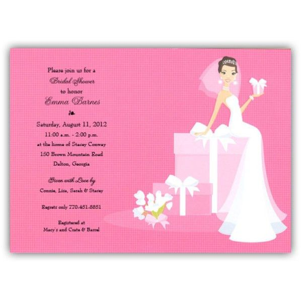 Pink Bridal Shower Invitations Template | Best Template Collection