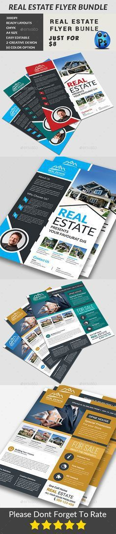 Real Estate Flyer | Real estate flyers, Adobe illustrator cs6 and ...