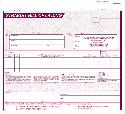 Bill of Lading | Freight | Packing Slips