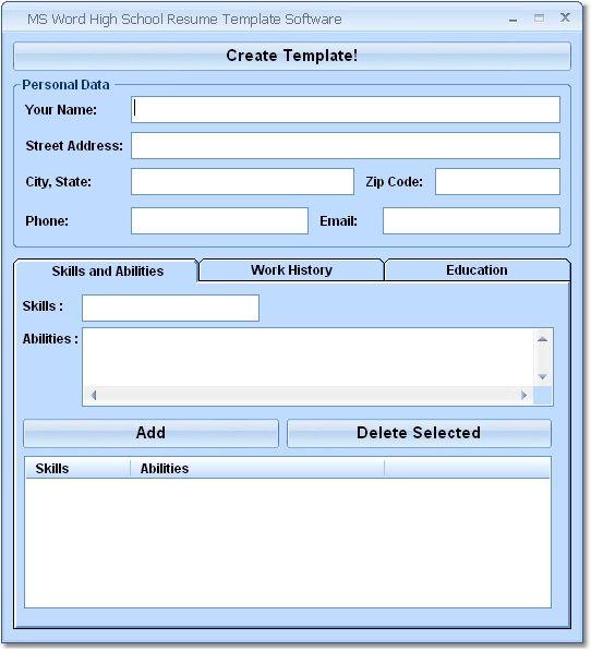 microsoft word resume template microsoft word resume template free ...