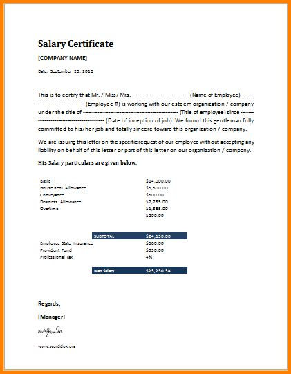 Beautiful Salary Confirmation Pictures - Best Resume Examples for ...