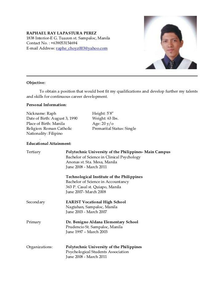 sample template of an excellent work experience mba bba resume it ...
