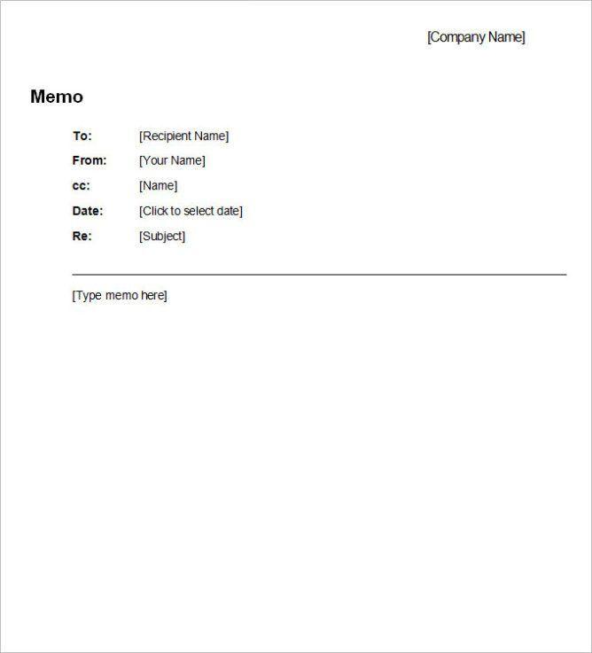 Free Professional Business Memo Template | Calendar Template ...