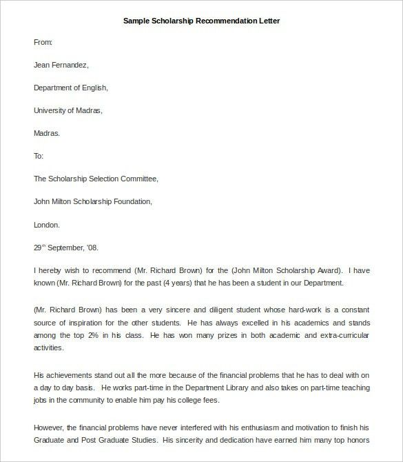 21+ Recommendation Letter Templates – Free Sample, Example Format ...