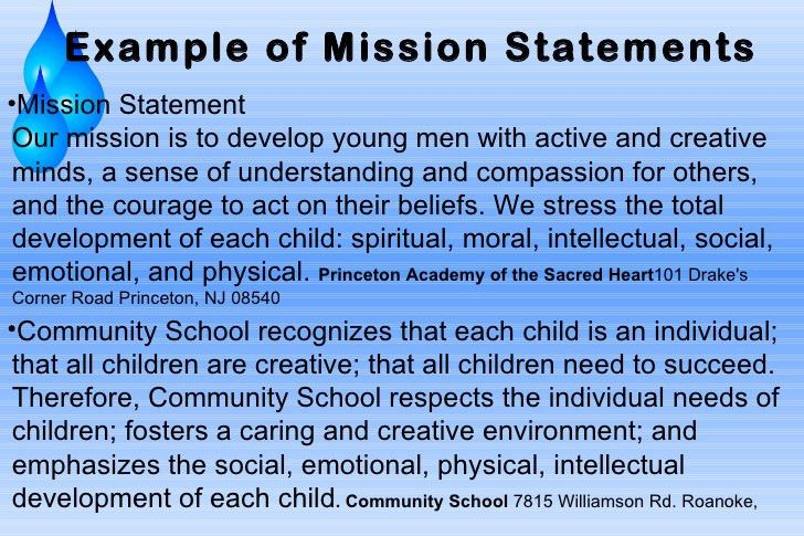 MISSION STATEMENT EXAMPLES - alisen berde