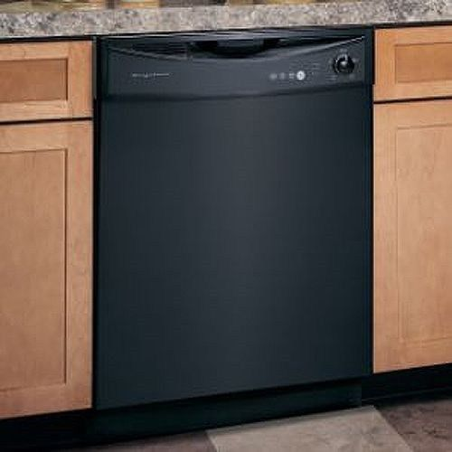 Gloss Black Magnetic Dishwasher Skin Cover Panel