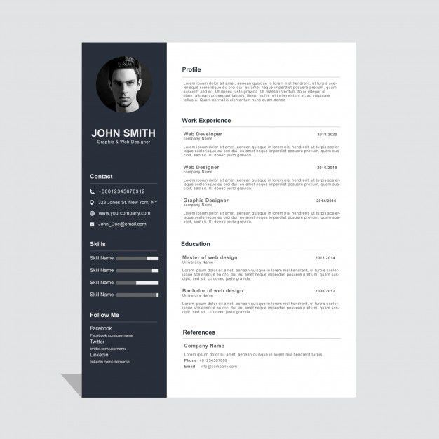 Editable cv format download PSD file | Free Download