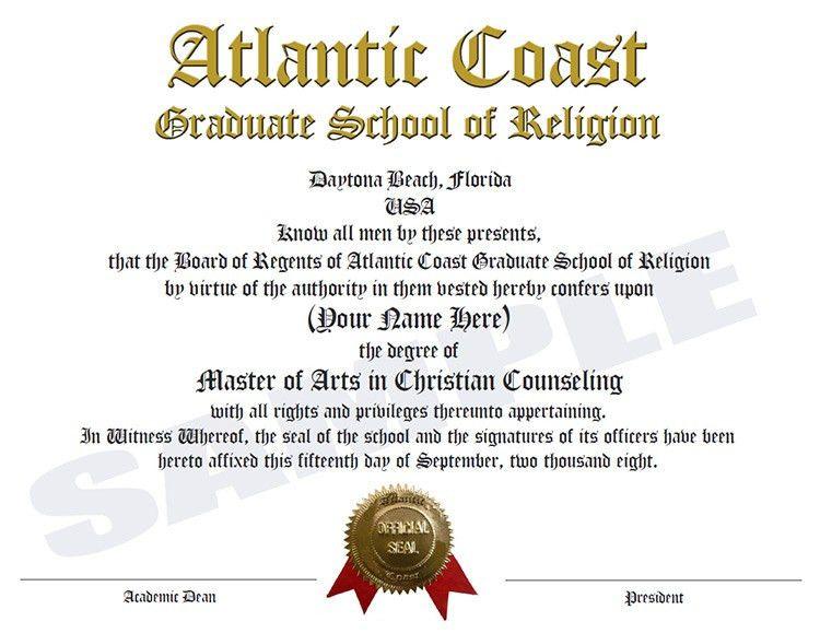 Atlantic Coast Graduate School of Religion and Theological Seminary