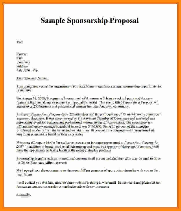 Event Proposal Template Doc. 8+ Sponsorship Proposal Template ...