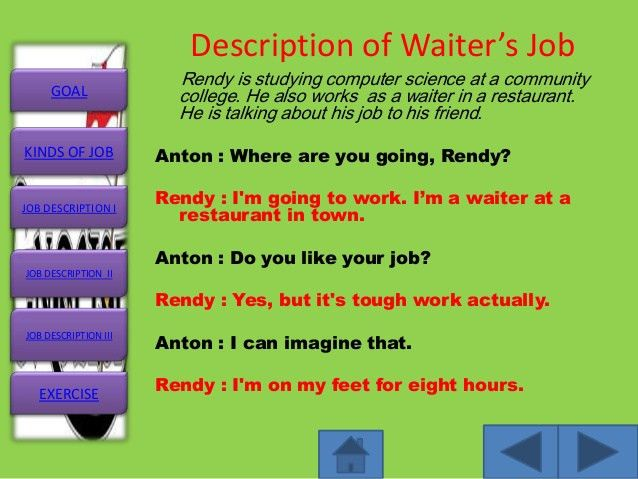 Job description (Slide Master)