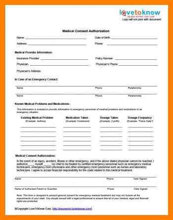 Free Child Medical Consent Form | Samples.csat.co