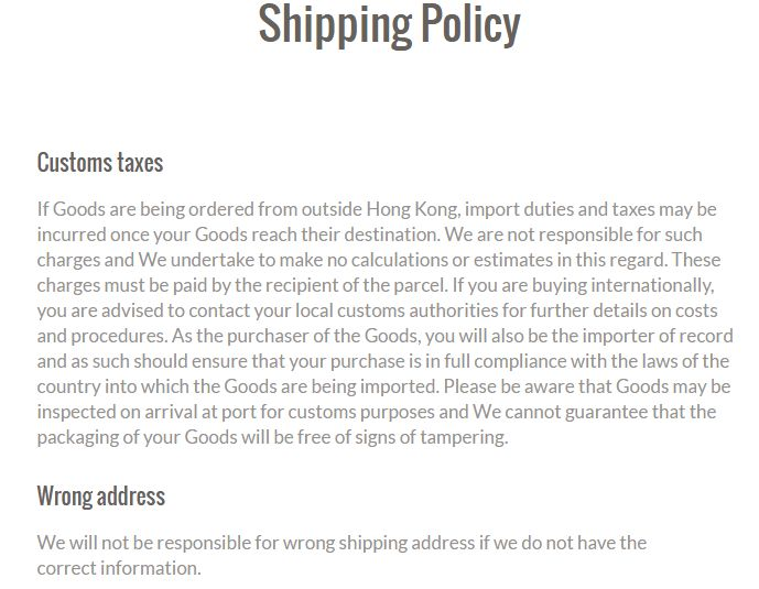 Shipping Policy Templates - Find Word Templates
