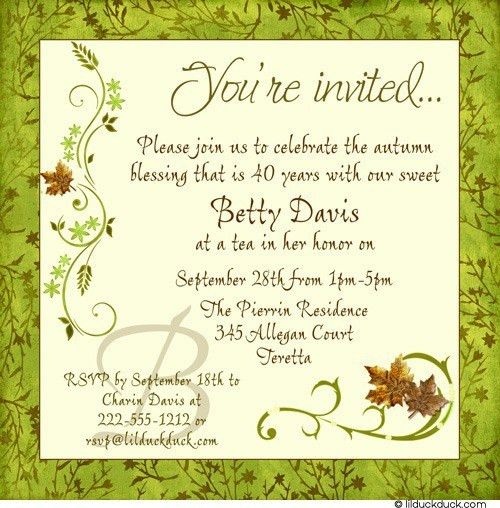 Birthday Invites: Simple 40Th Birthday Invitation Wording Ideas ...